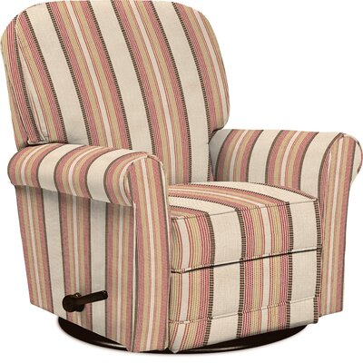 Addison Manual Swivel Glider Recliner Upholstery: Carmine