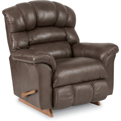 Crandell Leather Recliner Reclining Type: Manual Recline, Motion Type: Rocker
