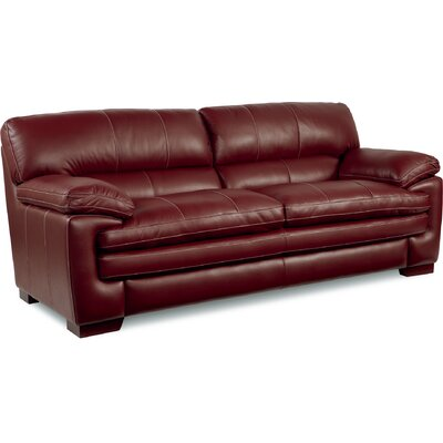 Dexter Leather Sofa Upholstery: Red
