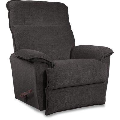 Jay Reclina-Way� Manual Recliner Upholstery: Sterling, Color: Brown Mahogany, Motion Type: Rocker