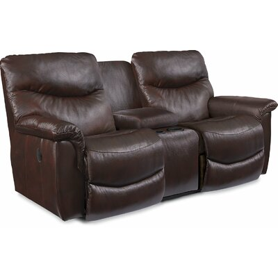James LA-Z-TIME� Full Reclining Loveseat with Console