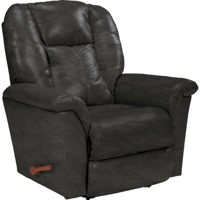 Jasper Leather Manual Rocker Recliner Upholstery: Smoke