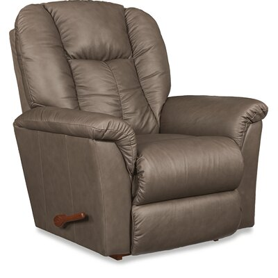 Jasper Leather Manual Rocker Recliner Upholstery: Fawn