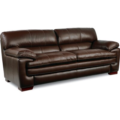 Dexter Leather Sofa Upholstery: Chocolate