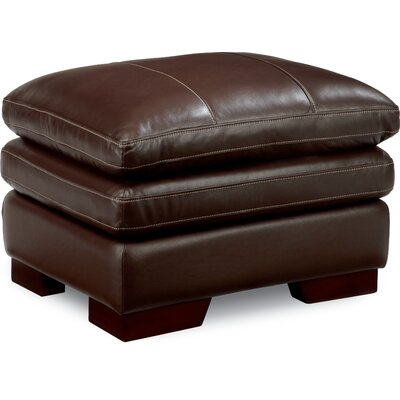 Dexter Leather Ottoman Upholstery: Chocolate
