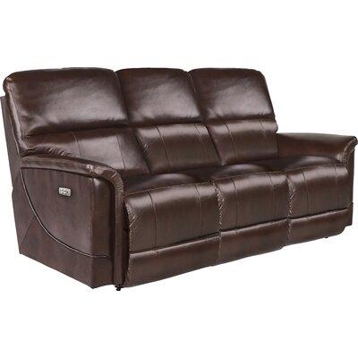 Oscar Power Full Reclining Sofa Upholstery: Chocolate