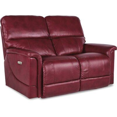 Oscar Power Full Reclining Loveseat Upholstery: Crimson