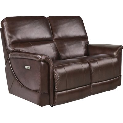Oscar Power Full Reclining Loveseat Upholstery: Chocolate