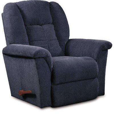 Jasper Manual Wall Hugger Recliner Upholstery: Upside Down Navy