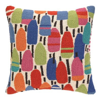Buoys Hooked Wool Throw Pillow