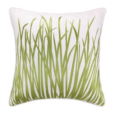 Seagrass Embroidered Throw Pillow