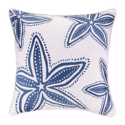 Starfish Embroidered Throw Pillow