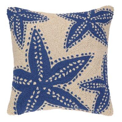 Starfish Hooked Wool Throw Pillow