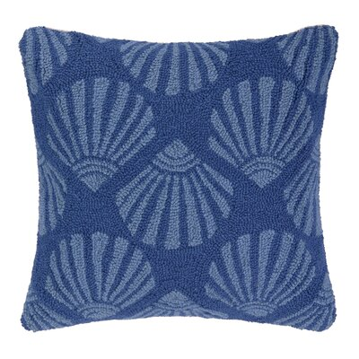 Scallop Hooked Wool Throw Pillow