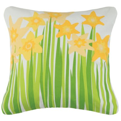 Daffodil Cotton Throw Pillow