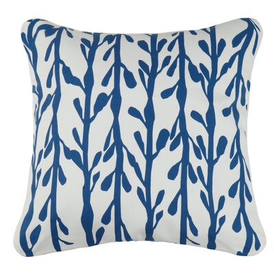 Indigo Coast Seaweed Outdoor Cotton Throw Pillow