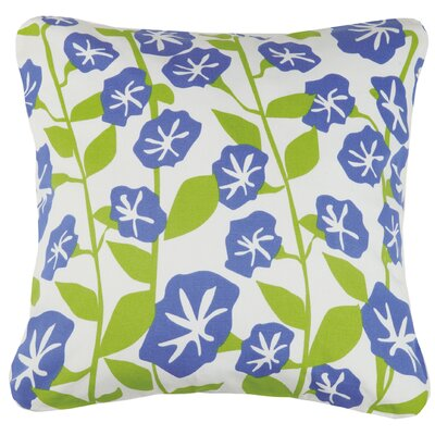 Morning Glory Cotton Throw Pillow