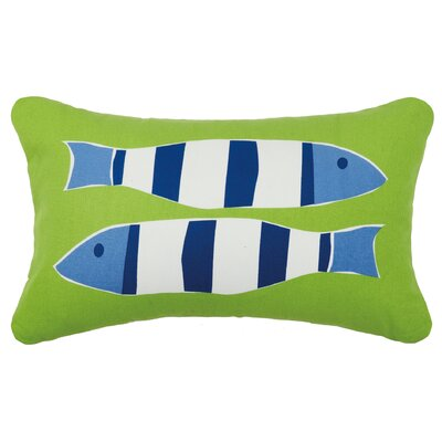 Pissouri Cotton Lumbar Pillow Color: Two Green Fish