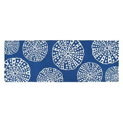 Hand-Woven Blue/White Area Rug
