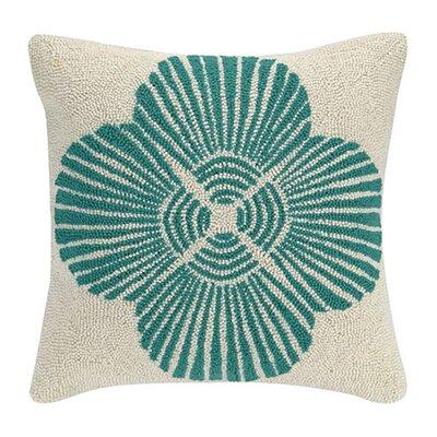 Scallop Flower Cotton Throw Pillow