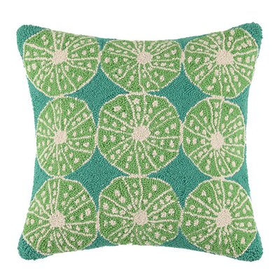Key Lime Urchin Cotton Throw Pillow