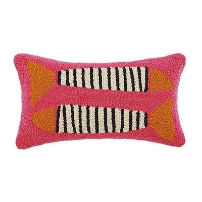 Zebra Fish Cotton Lumbar Pillow Color: Pink