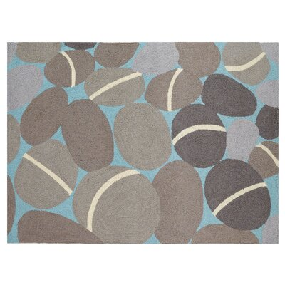 Lucky Rocks Gray Area Rug