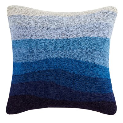 Ombre Sea Hook Wool Throw Pillow