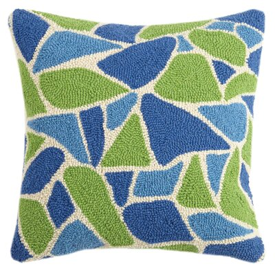 Sea Glass Hook Wool Throw Pillow