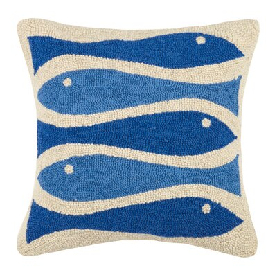 Fish Ribbon Hook Wool Throw Pillow