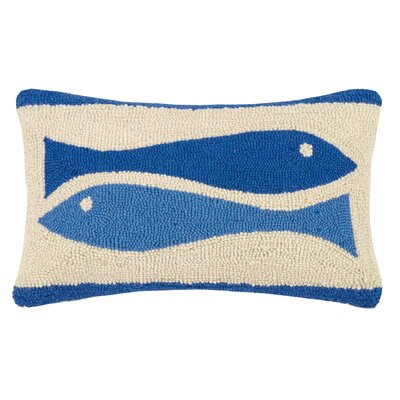 Fish Ribbon Hook Wool Lumbar Pillow