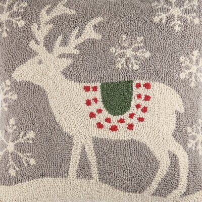 Scandinavian Deer Handmade Gray Area Rug