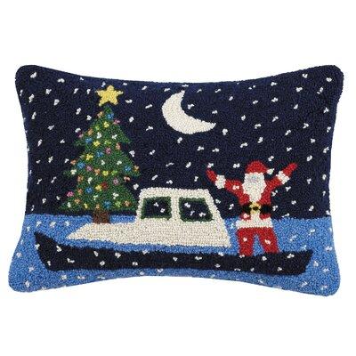 Palomar Santa Boat Holiday Hook Wool Lumbar Pillow