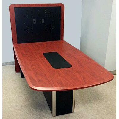 Combo Half-Round 28.125H x 48W x 85L Conference Table Top Finish: Elegance