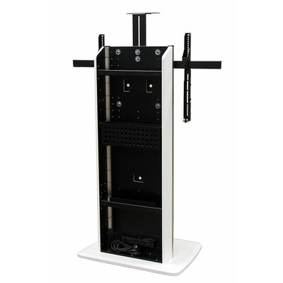 Fixed Base Telepresence Stand for 40 - 90 Displays Finish: Brushed Aluminum