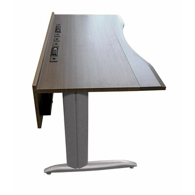 63 W Training Table with Cable Management Tabletop Finish: Storm Gray