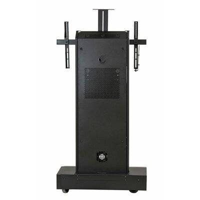 Moble Telepresence Stand with Single Monitor Mount for 40 -80 Displays Finish: Brushed Aluminum