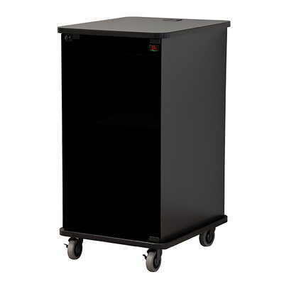 Deluxe Mobile Racks Finish: Aria, Size: 27 H x 23 W x 27 D
