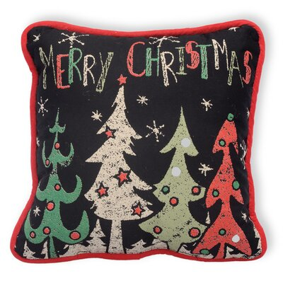 Merry Christmas Cotton Throw Pillow