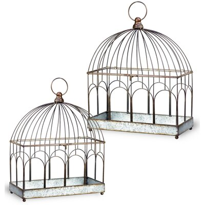 2-Piece Metal Terrarium Set