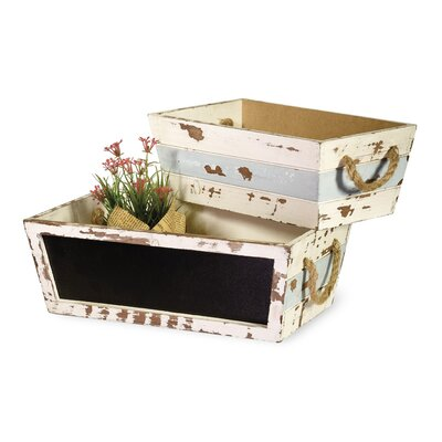 2-Piece Plywood Planter Box Set