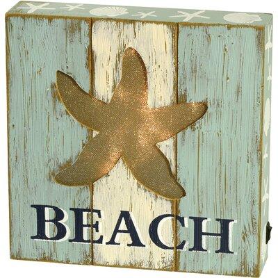 Beach LED Tabletop Art