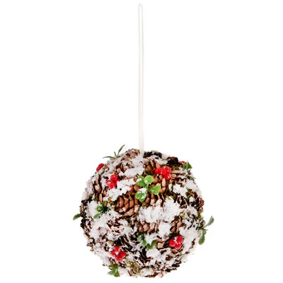 Pinecone and Berry Ball Ornament (Set of 2)