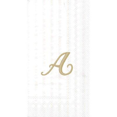 Monogram Paper Guest Hand Towel Letter: A