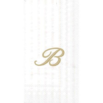 Monogram Paper Guest Hand Towel Letter: B