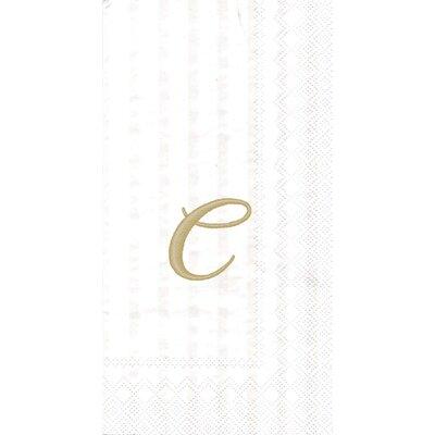 Monogram Paper Guest Hand Towel Letter: C