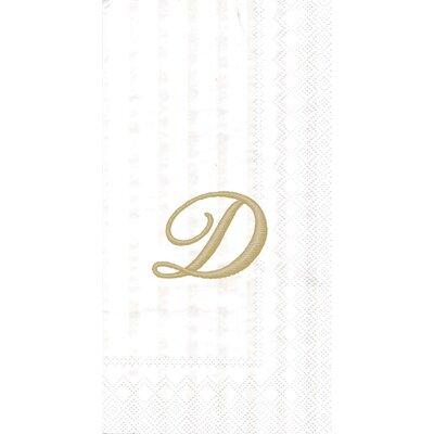 Monogram Paper Guest Hand Towel Letter: D