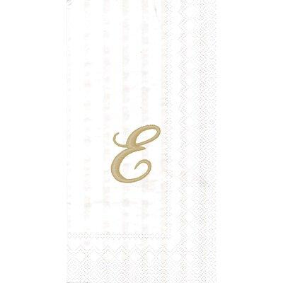 Monogram Paper Guest Hand Towel Letter: E