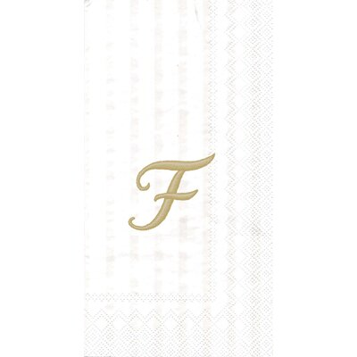 Monogram Paper Guest Hand Towel Letter: F