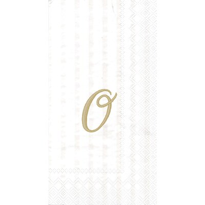Monogram Paper Guest Hand Towel Letter: O